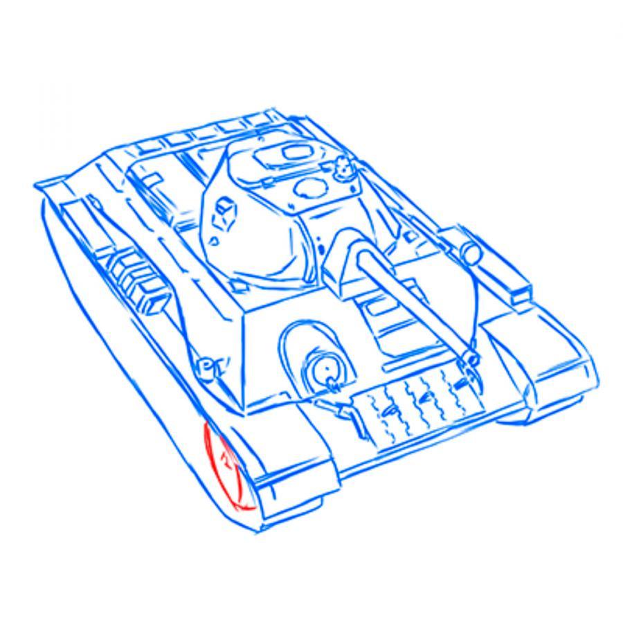 Рисуем советский средний танк Т-34 из World of Tanks - шаг 14