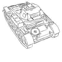 легкий немецкий танк Pz.Kpfw. II простым карандашом