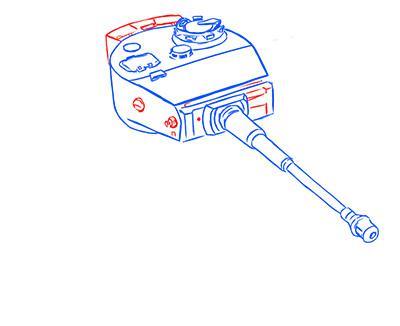 Рисуем немецкий тяжелый танк Тигр из World of Tanks - шаг 6