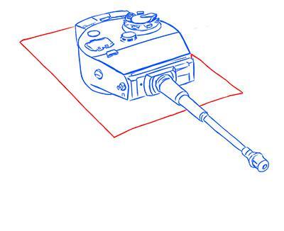Рисуем немецкий тяжелый танк Тигр из World of Tanks - шаг 7