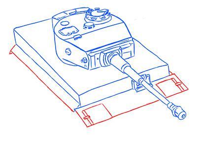 Рисуем немецкий тяжелый танк Тигр из World of Tanks - шаг 8