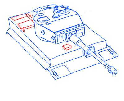 Рисуем немецкий тяжелый танк Тигр из World of Tanks - шаг 9