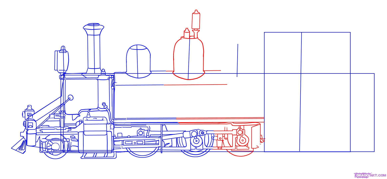 Рисуем Паровоз - шаг 5