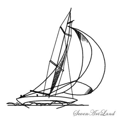 Рисуем парусную яхту - шаг 7