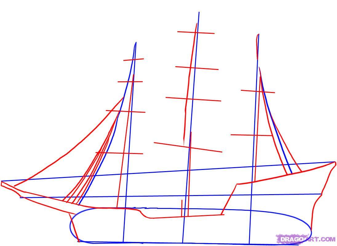 Рисуем пиратский корабль
