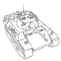 разведывательный немецкий танк VK 1602 карандашом