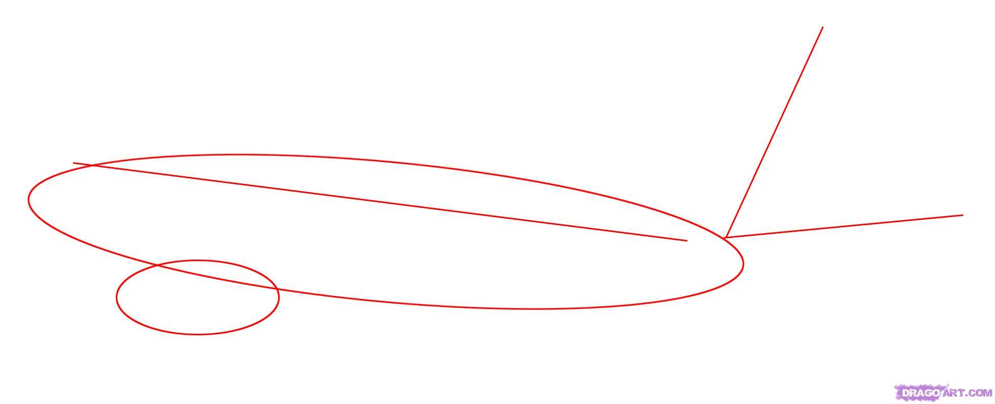 Рисуем самолет Боинг 787 - шаг 1