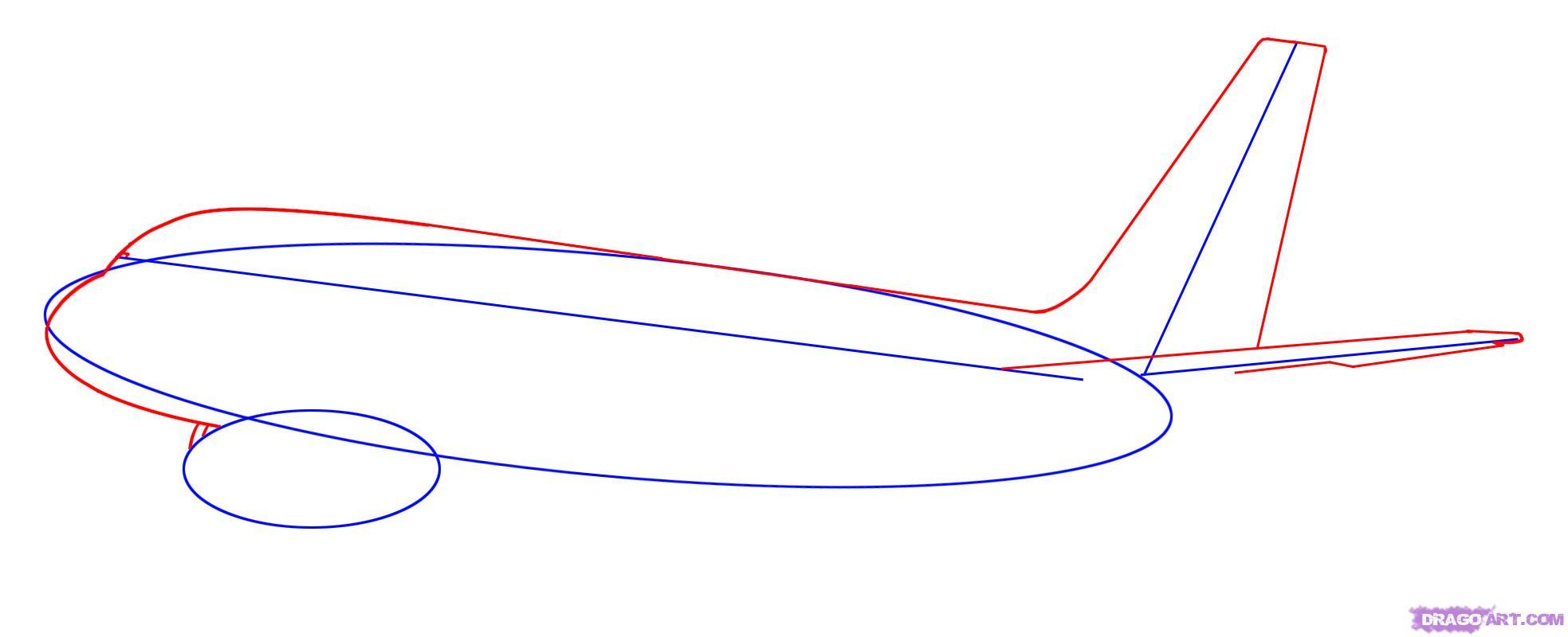 Рисуем самолет Боинг 787 - шаг 2