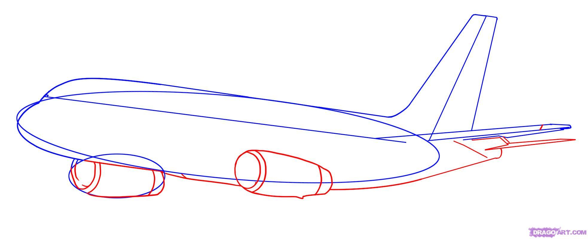 Рисуем самолет Боинг 787 - шаг 3