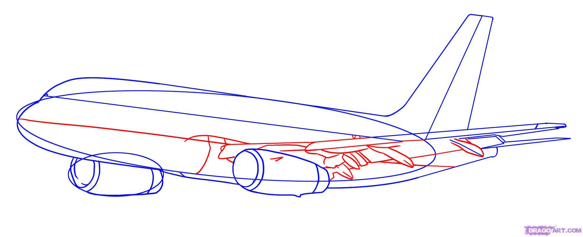 Рисуем самолет Боинг 787 - шаг 4