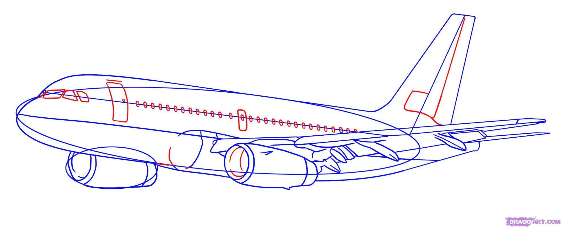 Рисуем самолет Боинг 787 - шаг 5