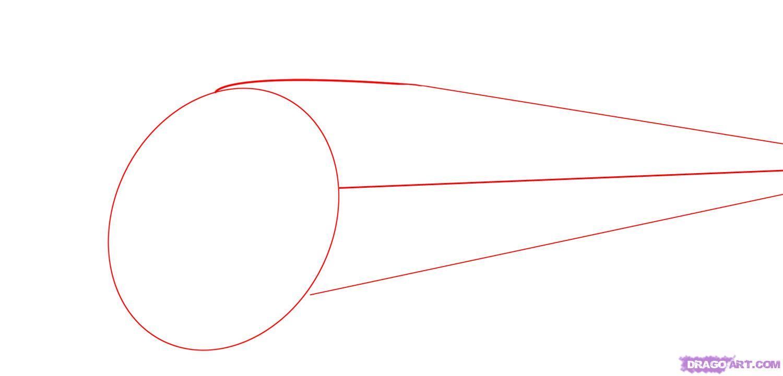 Рисуем скоростной поезд - шаг 1