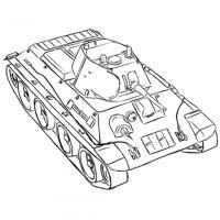 советский лёгкий танк А-20 карандашом
