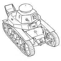 советский легкий танк МС-1 карандашом