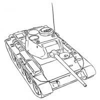 советский средний танк Т-44 карандашом