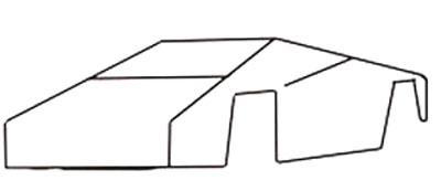 Рисуем спортивную машину - шаг 1