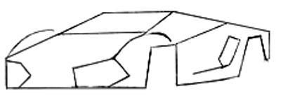 Рисуем спортивную машину - шаг 2