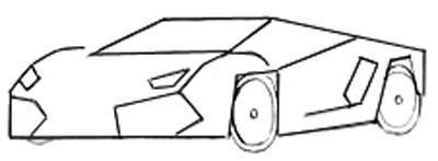 Рисуем спортивную машину - шаг 3