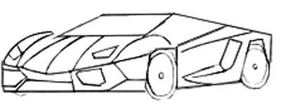 Рисуем спортивную машину - шаг 4