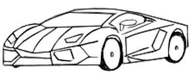 Рисуем спортивную машину - шаг 5