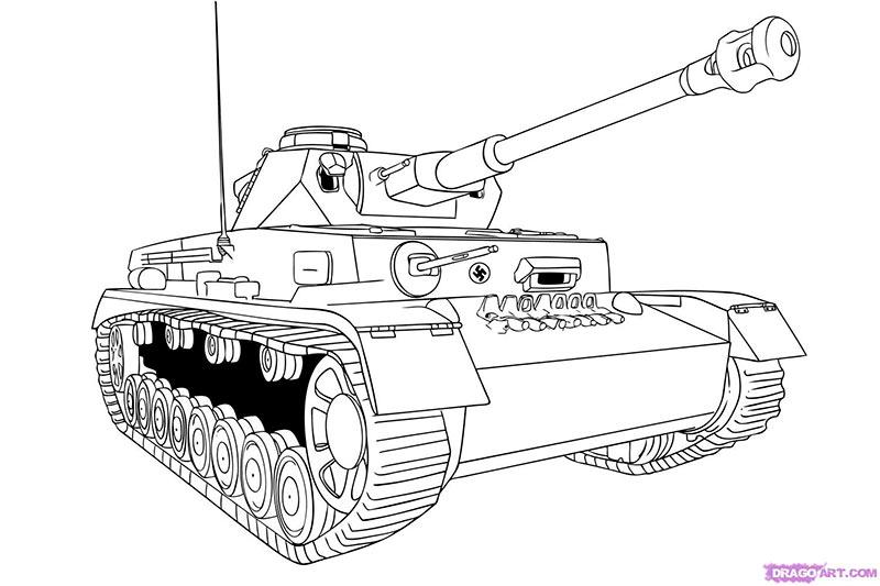 Рисуем танк тигр  для начинающих - шаг 8