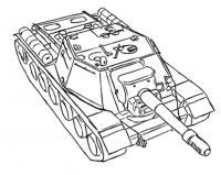 танк СУ-152 карандашом