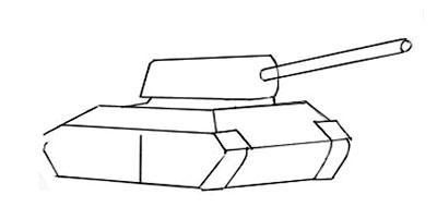 Учимся рисовать танк Т-34 и Т-34-85 - шаг 2