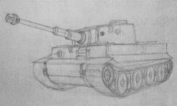 Рисуем танк Тигр - шаг 3
