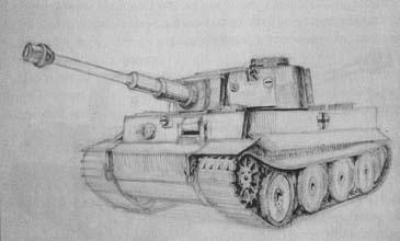 Рисуем танк Тигр - шаг 4