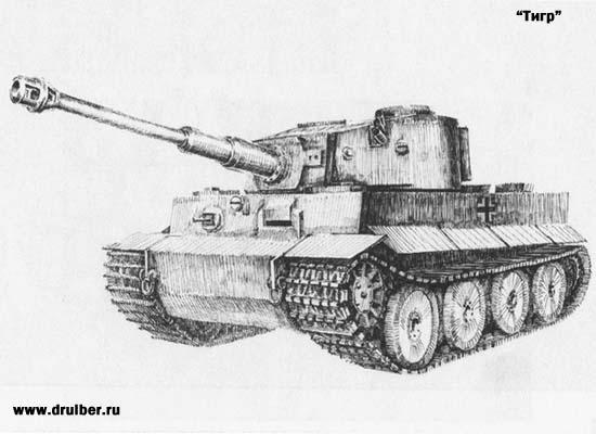 Рисуем танк Тигр - шаг 6