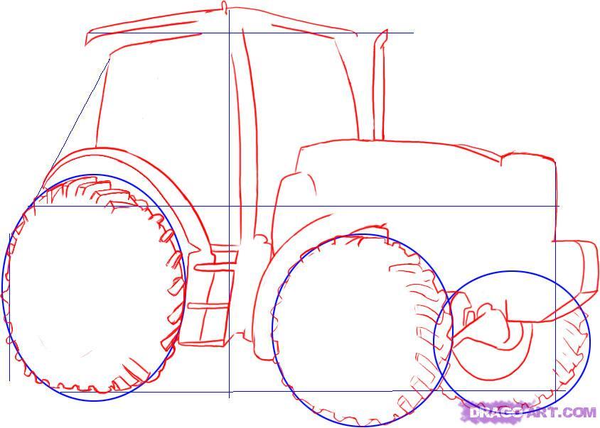 Рисуем Трактор - шаг 2