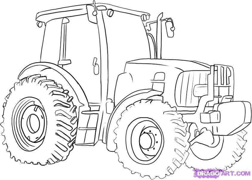 Рисуем Трактор - шаг 5