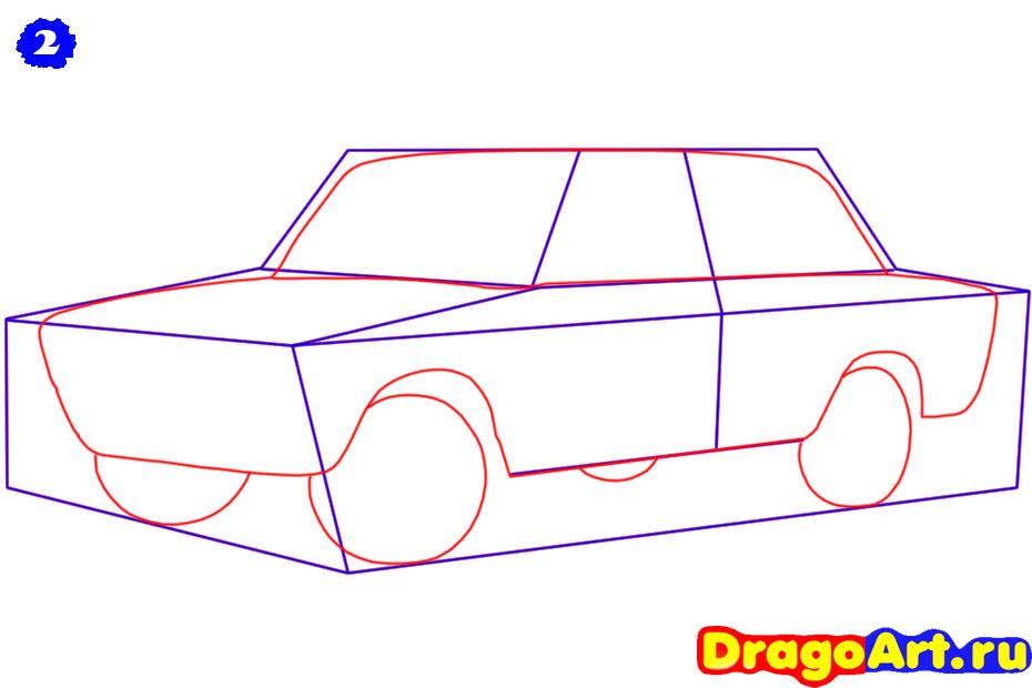 Рисуем ВАЗ 2106