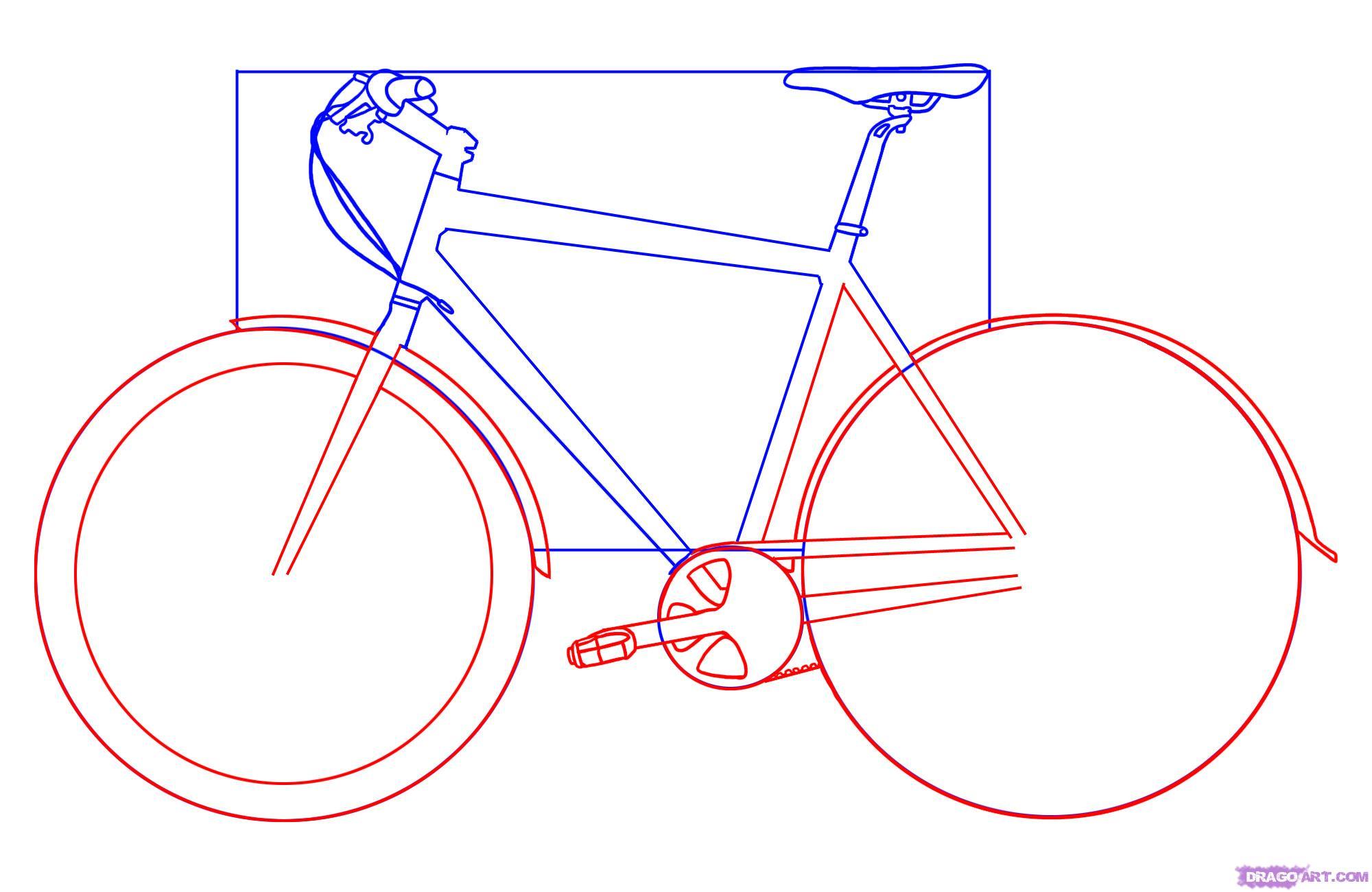 Рисуем велосипед - шаг 3