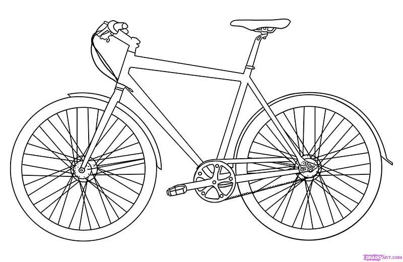 Рисуем велосипед - шаг 5