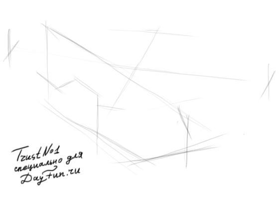 Рисуем вертолет - шаг 1