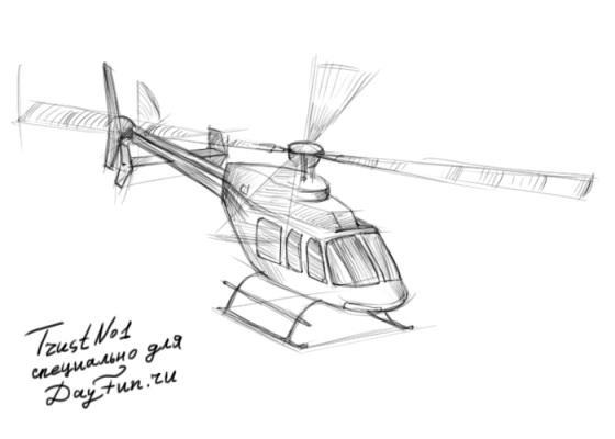 Рисуем вертолет - шаг 4