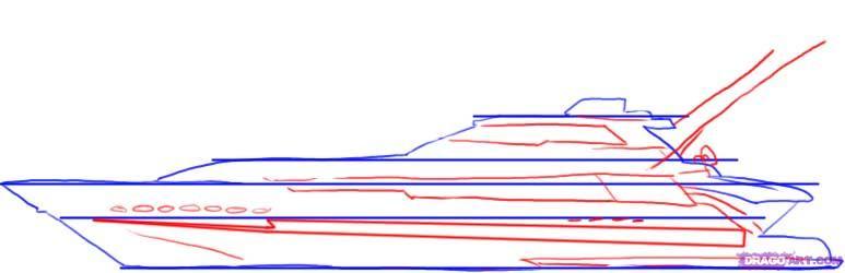 Рисуем Яхту - шаг 3