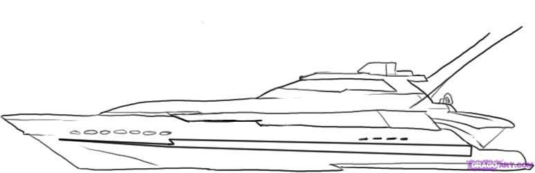 Рисуем Яхту - шаг 4