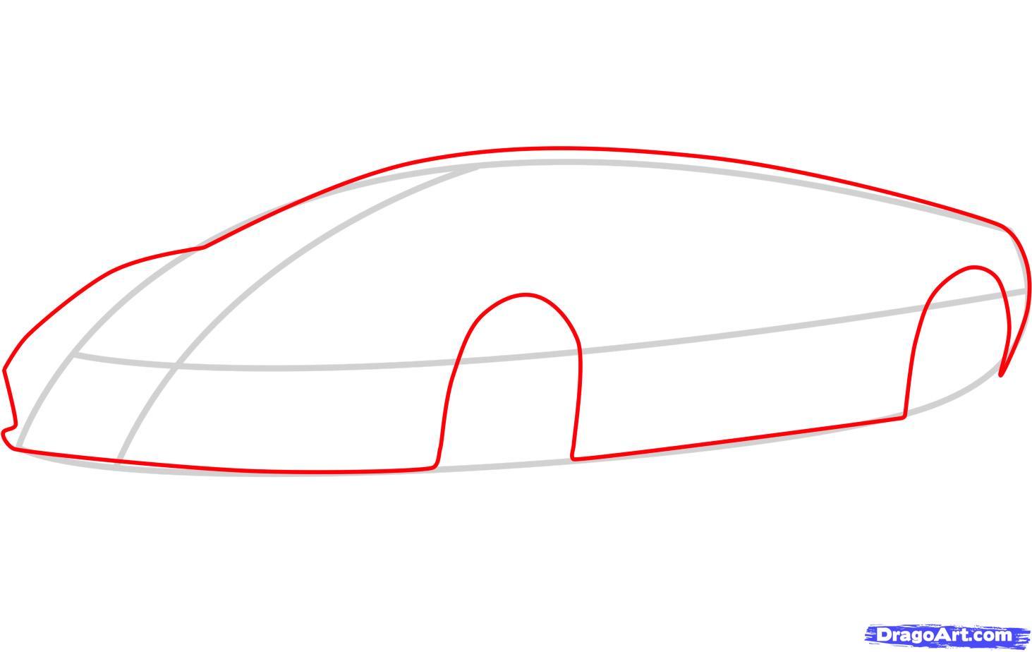 Рисуем ламборджини (Lamborghini Murcielago)