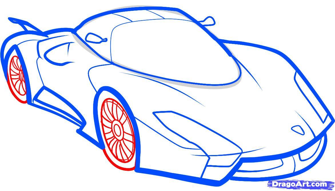 Рисуем самый быстрый автомобиль (SSC UltimateAero II)