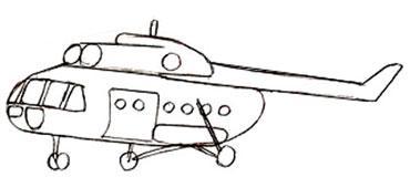 Учимся легко рисовать вертолет - шаг 4