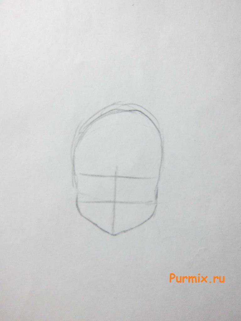Рисуем Блум в шапочке - шаг 1