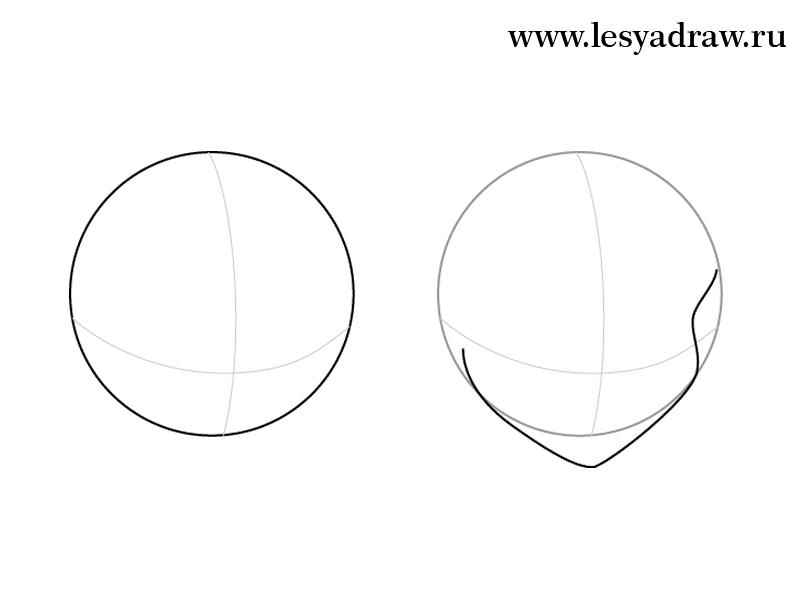 Рисуем фею Блум из Винкс - шаг 1