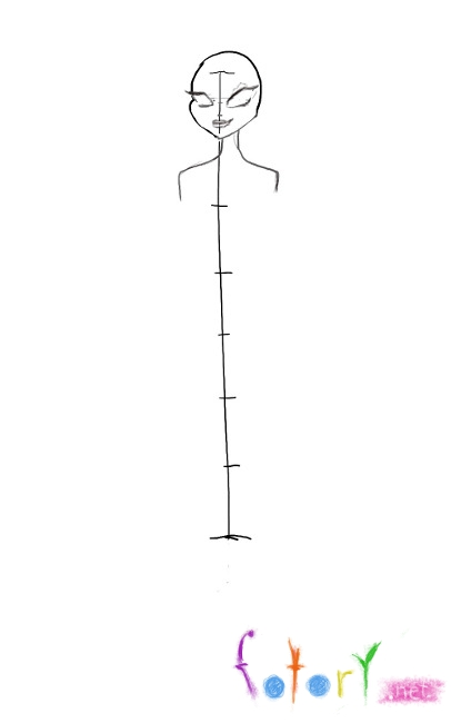 Рисуем фею Техну из Винкс - шаг 1