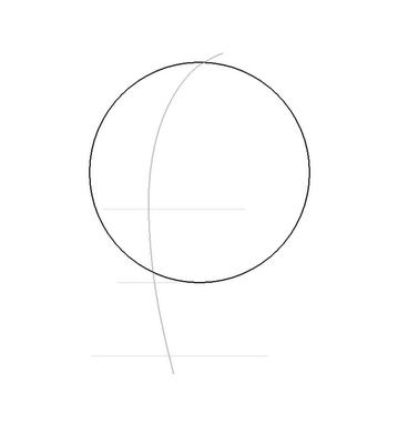 Рисуем лицо Блум вполоборот - шаг 3