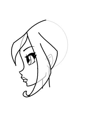 Рисуем лицо Блум в профиль - шаг 16