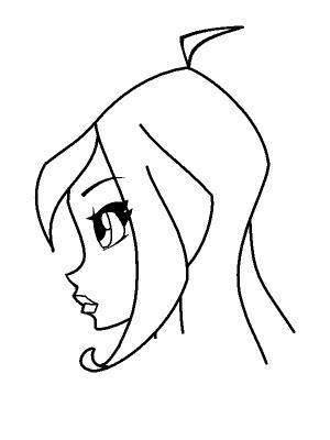 Рисуем лицо Блум в профиль - шаг 18