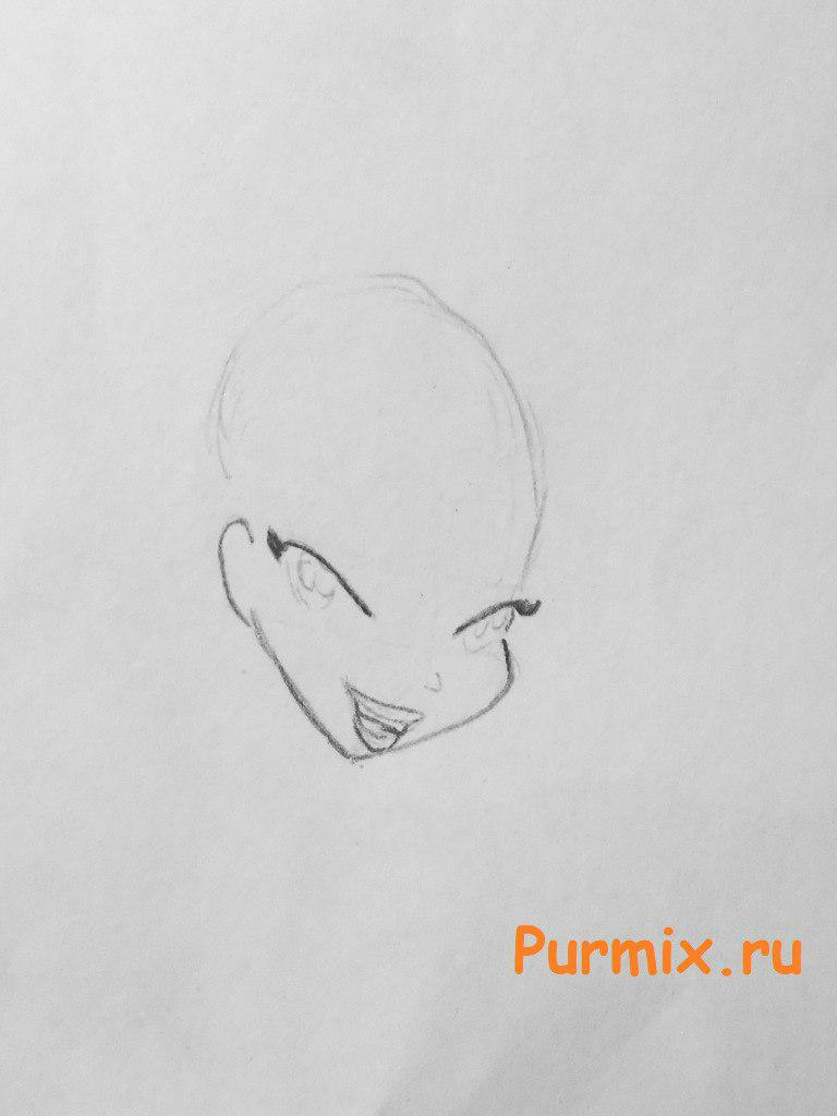 Рисуем фею Стеллу - шаг 2