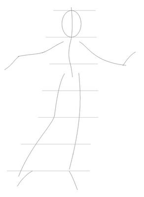 Рисуем Винкс в полный рост для начинающих - шаг 2